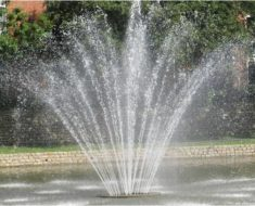 fountain spraying
