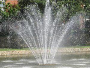 fountain spraying